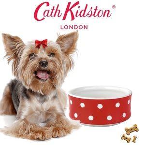 Cath Kidston Spot Stoneware Dog Bowl